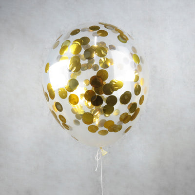 Gold Helium Confetti Helium Balloons Melbourne