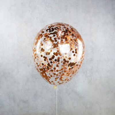 Rose Gold Confetti Helium Balloons Melbourne