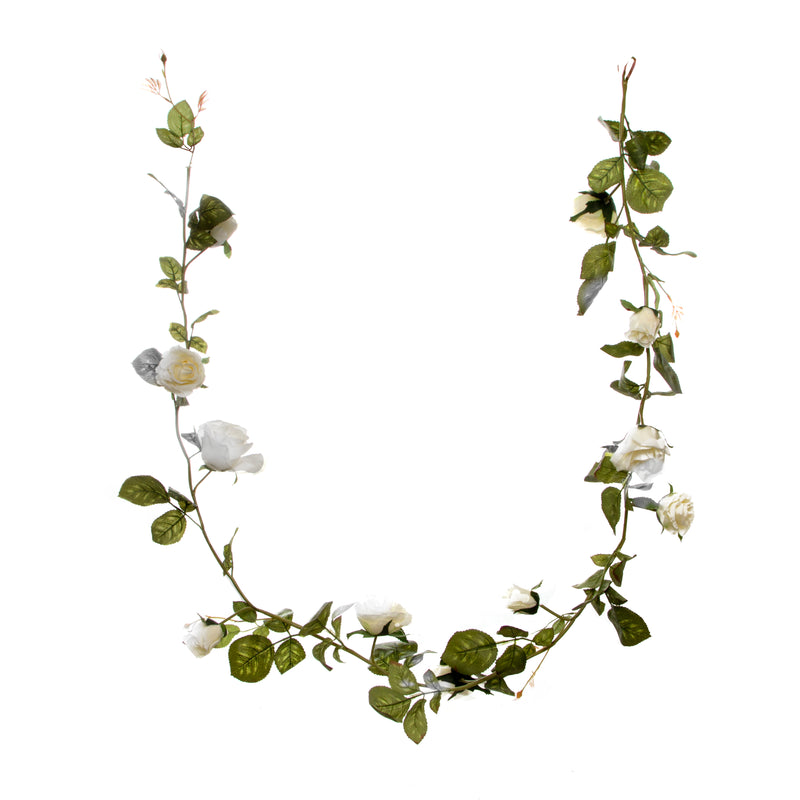 Rose Garland - White (180cm)