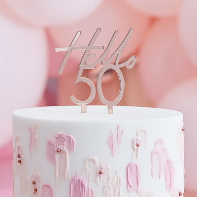 50th Birthday Cake Topper | Hello 50