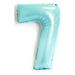 100cm Matte Light Blue Number Foil Balloons (0-9) - You Fill