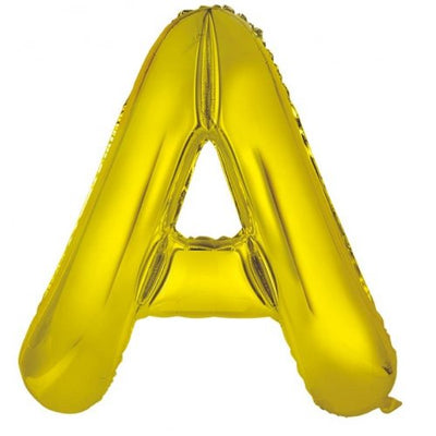 86cm Gold Foil Letter Balloon A - Helium Filled Melbourne