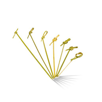 Bamboo Curly Skewers Picks - 6cm