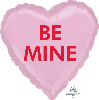 Heart Shaped Foil Balloon | Be Mine - Helium Filled