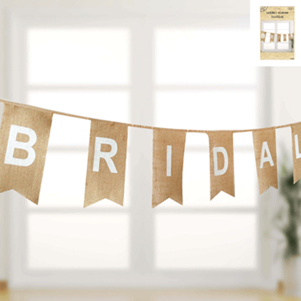Hessian Bunting - 'Bridal Shower'