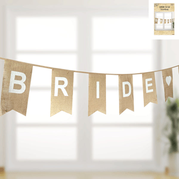 Hessian Bunting - 'Bride to Be'