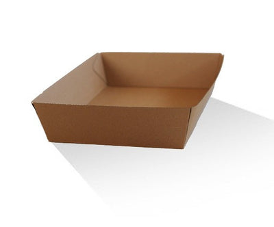 Food Tray Recycled Paper - 18cm(L) x 13.4cm(W) x 4.5cm(H)