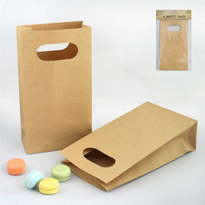 Die Cut Paper Bags - Brown (Pack of 4)