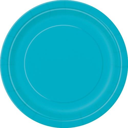 Caribbean Teal Paper Plates - 18cm (Pack of 20)