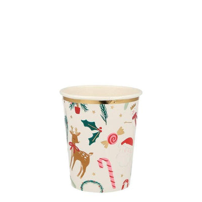 Christmas Festive Motif Paper Cups (Pack of 8)