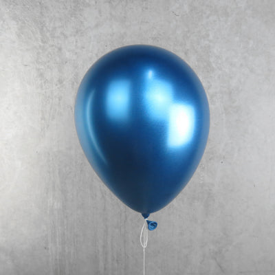 Chrome Reflective Blue Helium Balloon