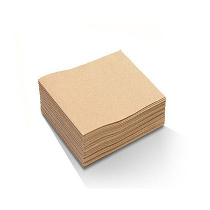 Recycled Paper Cocktail Napkins - Brown