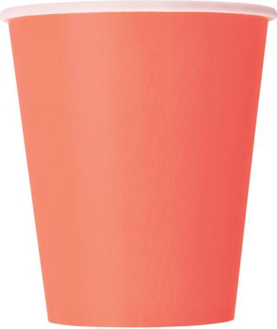 Coral Paper Cups - 270ml (Pack of 14)
