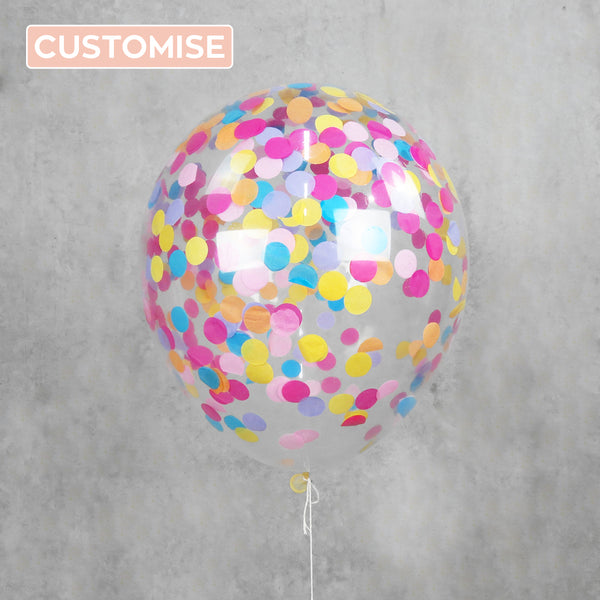 Custom Confetti Helium Balloon Delivery Melbourne
