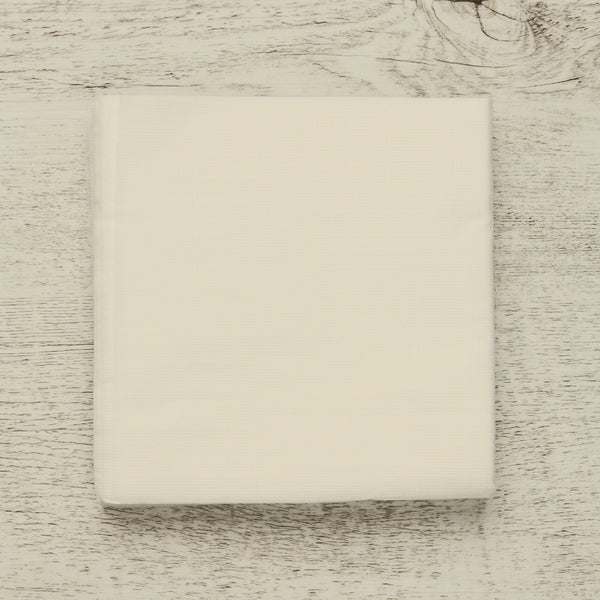 Bamboo Cockail Napkins 'Wood Free' - White