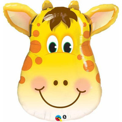 Giraffe Head Shaped Foil Balloon 81cm - Helium Filled