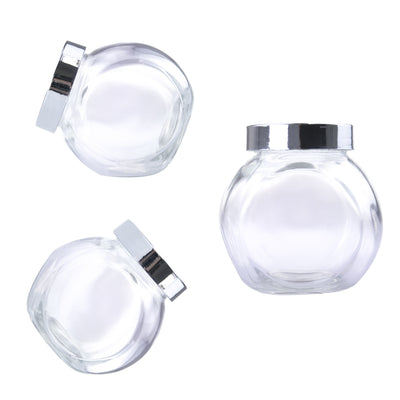 Glass Tilt Jar (Silver Lid) - Small 200ml