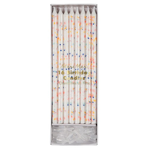 Cake Birthday Colour Speckled Candles