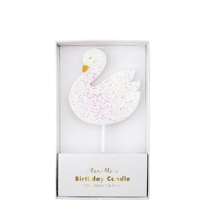 Cake Birthday Candle Swan Shape (Pack of 1)