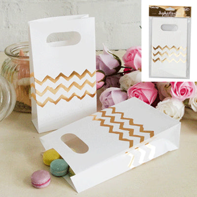 Chevron Bags - Gold (Pack of 6)