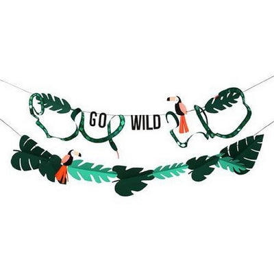 Green Jungle Paper Garland / Bunting