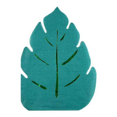 Jungle Leaf Shaped Napkin (Pack of 16)