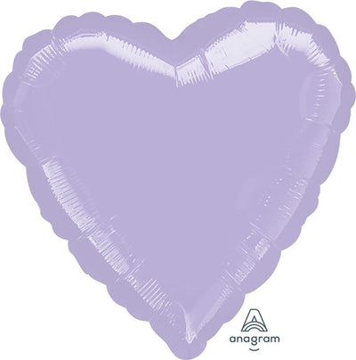 Heart Shaped Foil Balloon | Pastel Lilac - Helium Filled