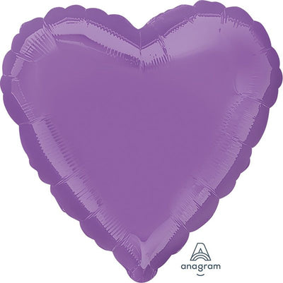 Heart Shaped Foil Balloon | Lilac - Helium Filled