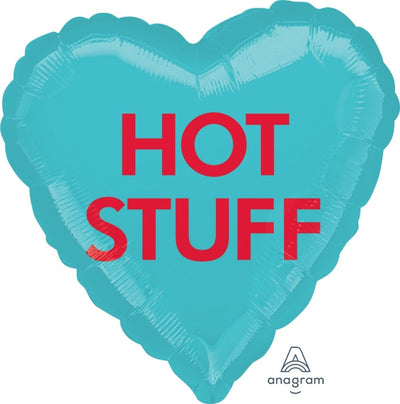 Heart Shaped Foil Balloon | Hot Stuff- Helium Filled