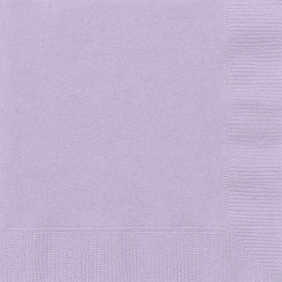 Lavender Lilac Large Lunch Napkins (Pack of 20) 2 ply