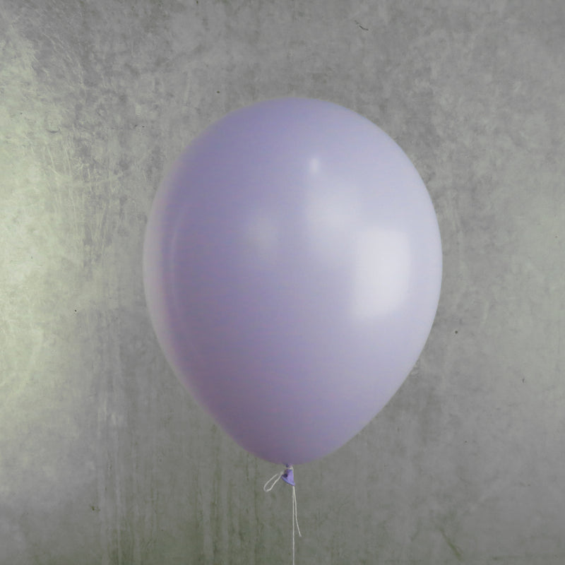 30cm Matte Pastel Lilac - Helium Filled | 7-12 Hour Float Time