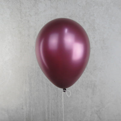 30cm Round Metallic Burgundy Balloons - You Fill (Pack of 5)