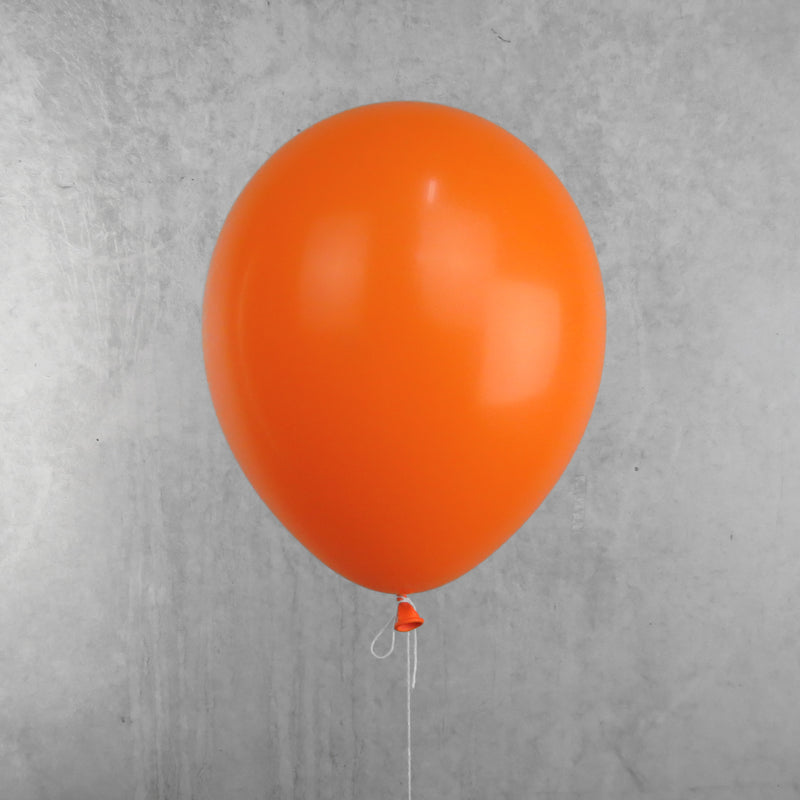 30cm Round Standard Orange Balloons - You Fill (Pack of 5)