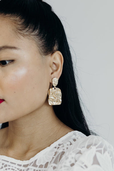 Paloma Earrings / Hammered Gold Drops - Oh Hey!
