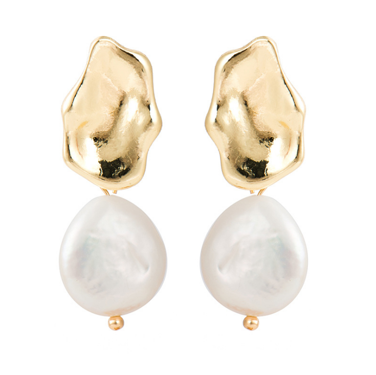 Pia Earrings / Gold + Pearl Drops - Oh Hey!