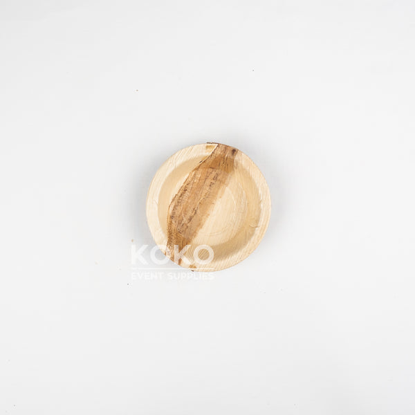 Palm Leaf Round Bowl - 10cm