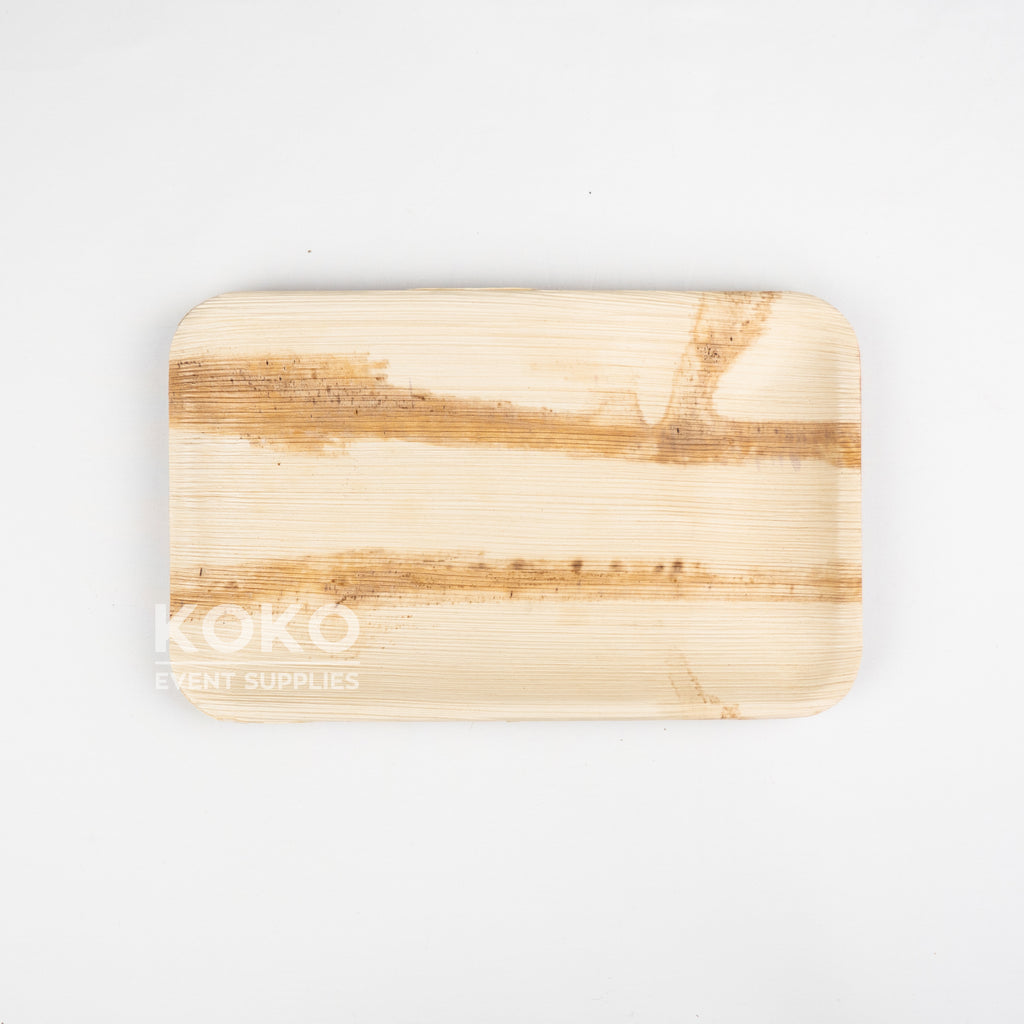 Palm Leaf Rectangle Plate - 23cm X 15cm
