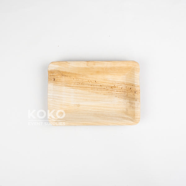 Palm Leaf Rectangle Plate - 16cm X 11cm