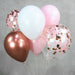 Pink Rose Gold Helium Balloon Centerpiece