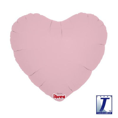 Heart Shaped Foil Balloon | Pastel Pink - Helium Filled
