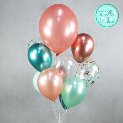 Peach and Lime Balloon DIY Kit - You Fill