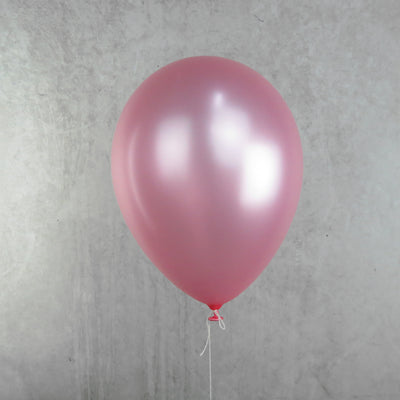 30cm Round Pearl Light Pink Balloons - You Fill (Pack of 5)