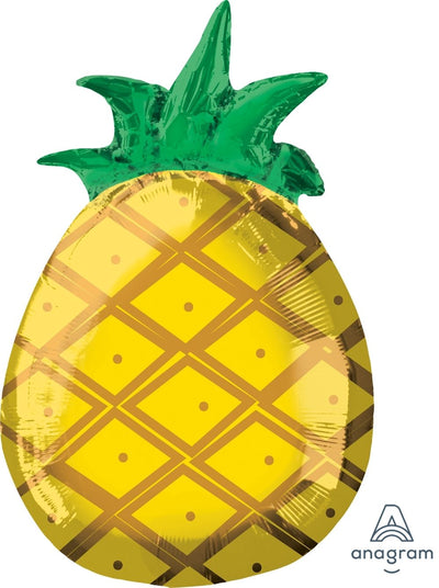 Pineapple Shaped Foil Balloon 30cm x 53cm - Helium Filled
