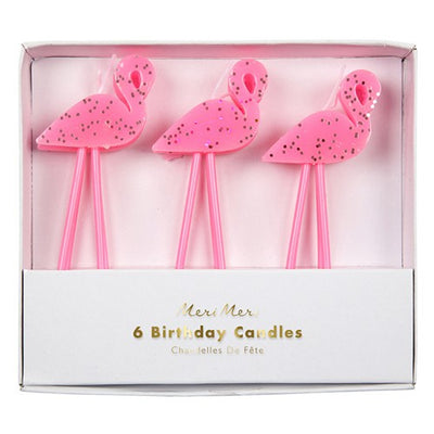 Cake Birthday Flamingo Candles (Pack of 6)