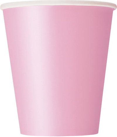 Lovely Pink Paper Cups - 270ml (Pack of 8)