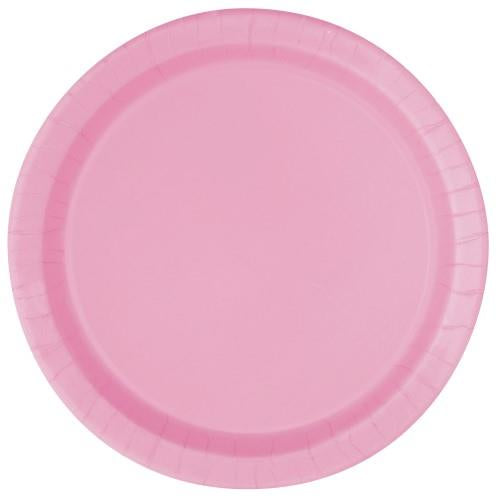 Lovely Pink Paper Plates - 18cm (Pack of 8)