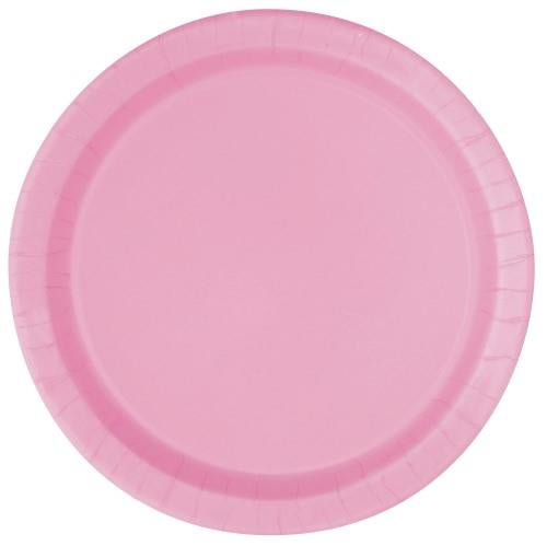 Lovely Pink Paper Plates - 23cm (Pack of 16)