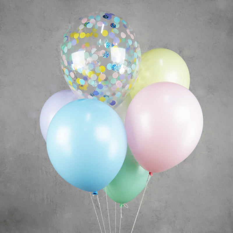 Pastel Helium Balloon Bouquet
