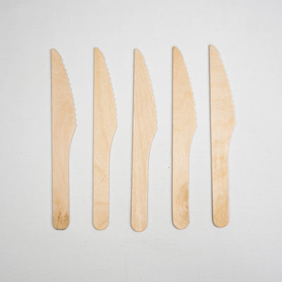 Eco Wooden Cutlery - Wooden Knives - Biodegradable