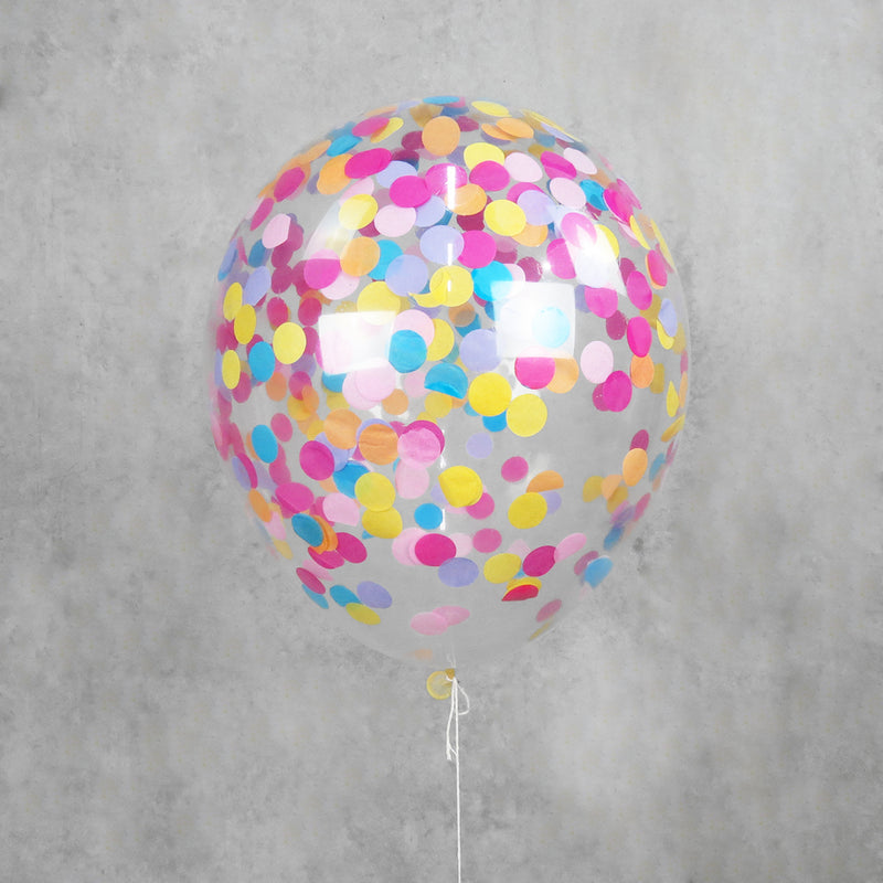 Paper Rainbow Confetti Helium Balloons Melbourne
